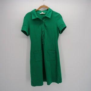 Banana Republic Women's Green Shirt Dress Size 2